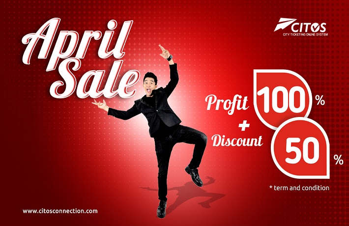 APRIL SALE ! Promo kemitraan DISCOUNT 50% plus PROFIT 100 %